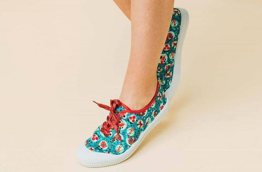 Rosalita McGee Playeras Celaya Trainers | Womens turquoise design trainers | Wearitboutique