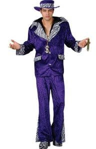 70s Purple Pimp Daddy Costume (EM3078)