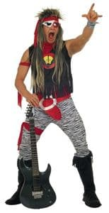 1980's Rock Star Costume For Men (3786)