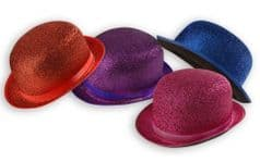 Coloured Lame Bowler Hat