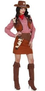 Traditional cowgirl costume