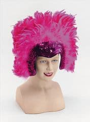 Deluxe Mardi Gras Feather Headdress