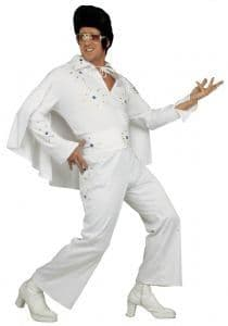 Deluxe White Elvis Rock Star Costume