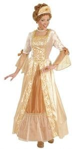 Golden Princess ladies fancy dress costume - Ladies Masquerade Ball costume