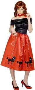 Grease Poodle Dress Costume (Red)