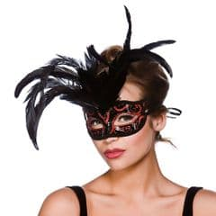 Milano Eye Mask  - Black w Red Glitter (MK-9811-R)