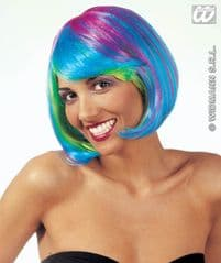 Multi-coloured Bob Wig