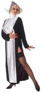 Nun with White Front Costume XL