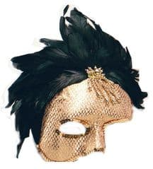 Phantom Mask with Feathers