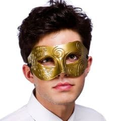 Rome Eye Mask  - Gold (MK-9808-G)