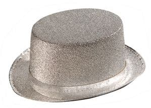 Silver Lame Top Hat