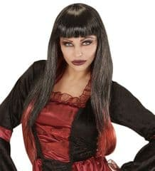 Vampire Wig - Black with Red Tips (00824)