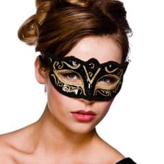 Verona Eye Mask  - Gold Glitter (MK-9810-G)