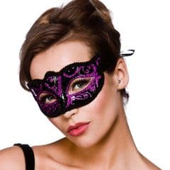Verona Eye Mask  - Purple Glitter (MK-9810-P)