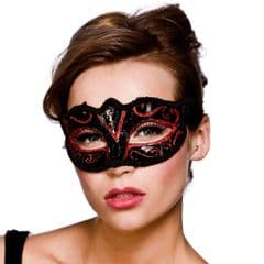 Verona Eye Mask  - Red Glitter (MK-9810-R)