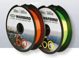 Fladen Warbird Flexi Shock Leader Line (50M/50lb/.60MM) in Yellow | Briad, Mono, Fly Line | Flash Fishing Tackle