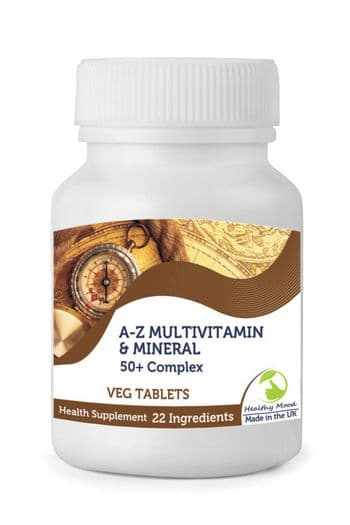 50+ Plus A-Z Multivitamin & Mineral Tablets 22 Ingredients