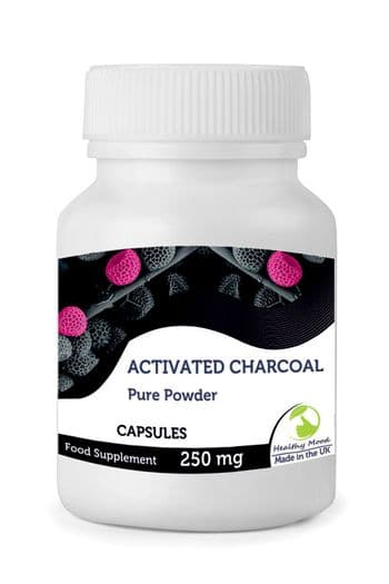 Activated Charcoal 250mg Capsules
