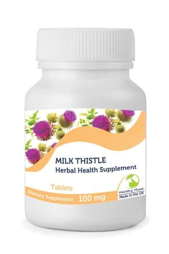 Natural Milk Thistle 100mg Tablets