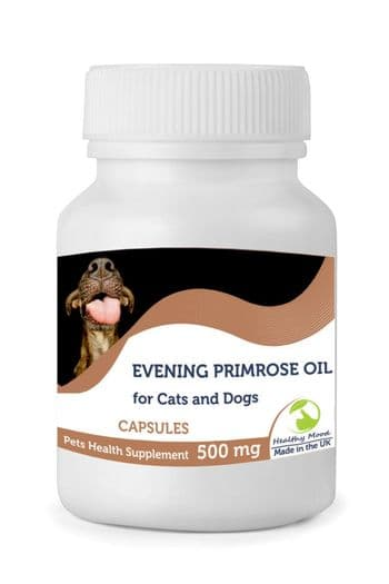 Evening Primrose Oil 500mg for Cats and Dogs Pets Capsules