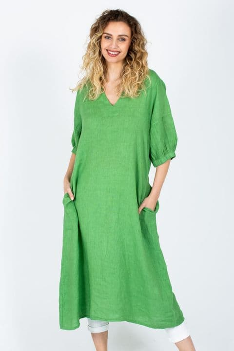 The Grace Dress in Lime Green
