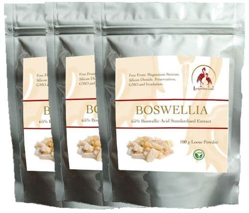 Boswellia  Loose Powder Saver Pack,  3 x 100 g Refill pouches. Save £2.80