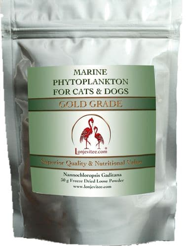 Phytoplankton Gold Grade for Cats and Dogs. Pure loose powder. 30g Pouch.