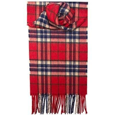 100% Cashmere-2123-THOMPSON RED ANTIQUE TARTAN