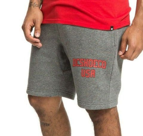 DC SHOES MENS SHORTS.GLENRIDGE 2 GREY FLEECE JERSEY JOGGING GYM SHORTS 9S 62 KN