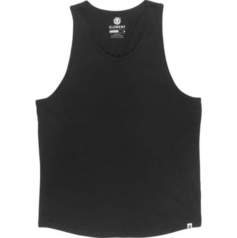 ELEMENT MENS VEST.NEW PLAIN BLACK COTTON SLEEVELESS GYM TANK TOP T SHIRT S20 A6