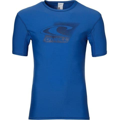 O'NEILL MENS RASH VEST.CREEK UPF50+ SUN PROTECTION BLUE T SHIRT TOP 8S 614 5145