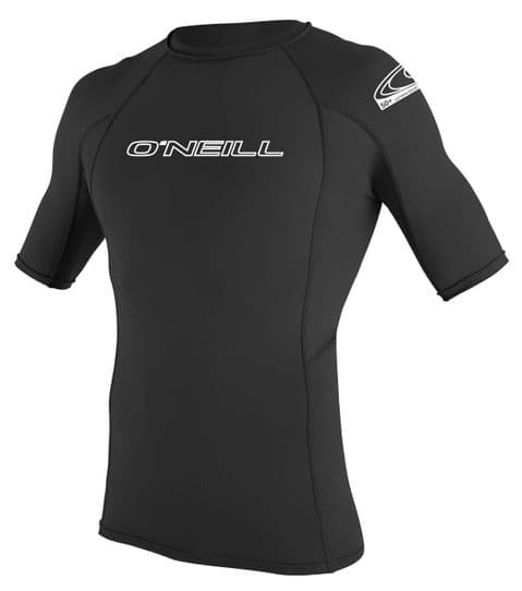 O'NEILL MENS RASH VEST.SKINS UPF50+ SUN PROTECTION BLACK T SHIRT/TOP 9S 3341 002
