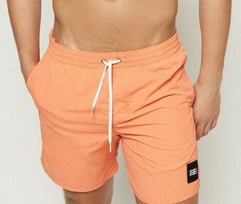 O'NEILL MENS SWIM SHORTS.VERT ORANGE HYPER DRY LINED SWIMMING BOARDIES 9S 24/25