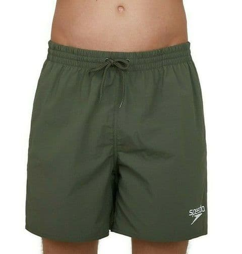 "SPEEDO MENS WATER SHORTS.16"" ARMY GREEN RECYCLED QUICK DRY TRUNKS SWIMMERS S20 5"
