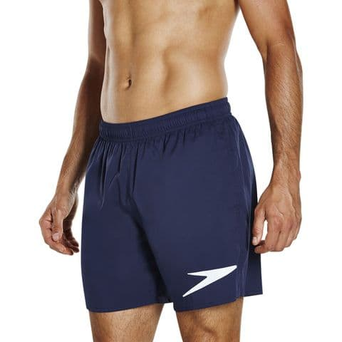 SPEEDO MENS WATER SHORTS.SPORT SOLID EXPRESS LITE ECO NAVY TRUNKS/SWIMMERS 8S 95