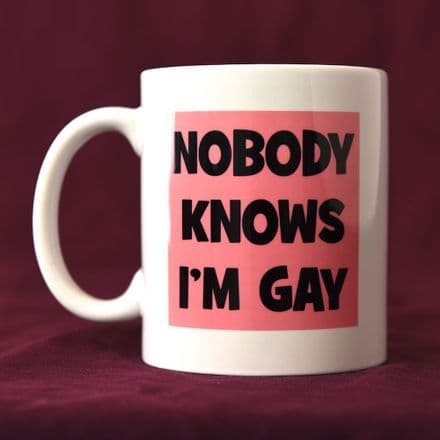 Nobody Knows I'm Gay - Mug