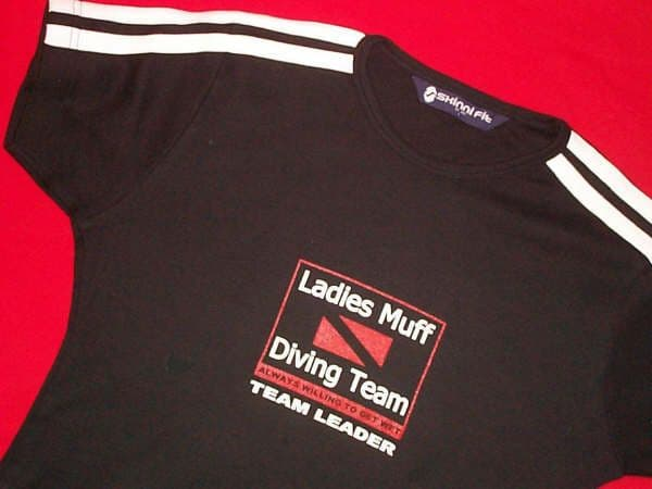 Ladies Muff Diving Team - Black - fitted