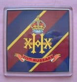 20th HUSSARS LARGE ACRYLIC COASTER