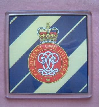 7th QUEEN'S OWN HUSSARS LARGE ACRYLIC COASTER