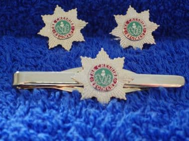 CHESHIRE REGIMENT CUFF LINKS AND TIE GRIP / CLIP SET