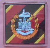 DORSETSHIRE REGIMENT LARGE ACRYLIC COASTER