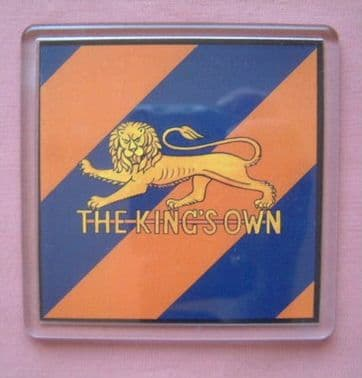 KING'S OWN ROYAL REGIMENT LARGE ACRYLIC COASTER
