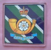 KING'S OWN YORKSHIRE LIGHT INFANTRY ( KOYLI ) LARGE ACRYLIC COASTER