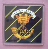 PRINCE ALBERTS SOMERSET LIGHT INFANTRY LARGE ACRYLIC COASTER