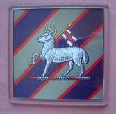 QUEEN'S ROYAL REGIMENT WEST SURREY LARGE ACRYLIC COASTER