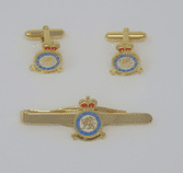 ROYAL AIR FORCE POLICE  ( RAFP ) CUFF LINK AND TIE GRIP / CLIP GIFT SET