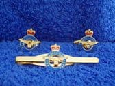 ROYAL AIR FORCE ( RAF ) CUFF LINK AND TIE GRIP / CLIP GIFT SET