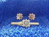 SCOT'S GUARDS CUFF LINKS AND TIE GRIP / CLIP SET