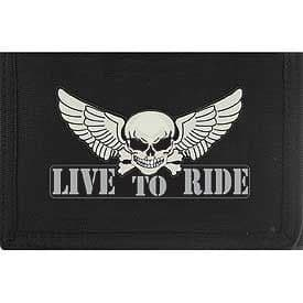 WINGED SKULL LIVE TO RIDE WALLET