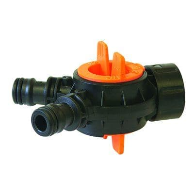 Nylon Triple Male Adaptor with valve